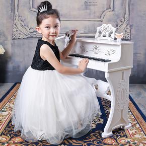 贝芬乐儿童电子琴带麦克风小钢琴 宝宝多功能玩具琴345678岁女孩