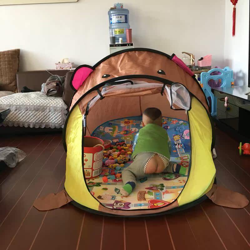室内帐篷儿童家用床上地上保暖防蚊帐篷男孩女孩游戏屋过家家