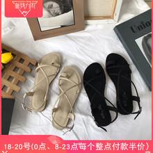 女学生 夹趾凉鞋 韩国ulzzang学院风chic百搭原宿ins罗马鞋 小sun家