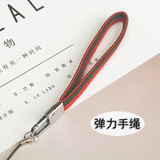 Stretch short mobile phone lanyard hand rope Apple mobile phone shell rope bracelet detachable wide anti-falling wrist band universal