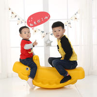 Children's seesaw Whale seesaw Double seesaw rocking children's plastic rocking horse fitness toys