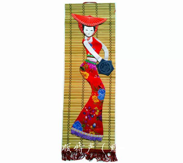 贵州民族特色贴画买5送1苗族蜡板画 竹子毡画 婚庆家居客厅壁挂