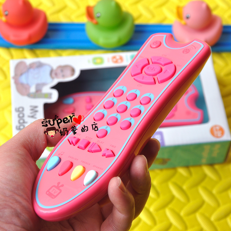 Children's simulation TV remote control baby puzzle early education baby toys mobile phone music