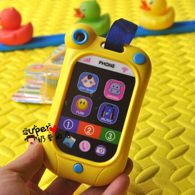 Free Shipping Crying Artifact Simulated Touch Screen Smart Mobile Phone Music Toy Telephone