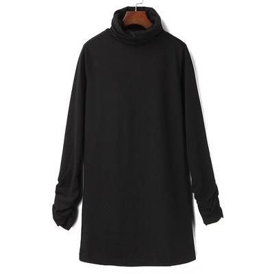 包邮 外贸单2018新款春秋季女装高领长袖打底针织衫百搭修身上衣