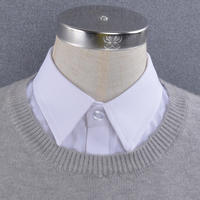 Spring, autumn and winter wild decoration fake collar shirt collar unisex cotton oxford large size thick shirt free hot