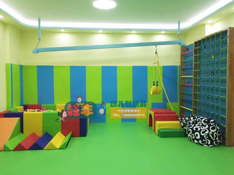 精品 立体攀爬架 早教感统体能训练室内木制网梯攀岩墙绳爬