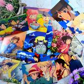 龙猫 虞美人盛开的山坡侧耳倾听 宫崎骏动漫动画明信片15款
