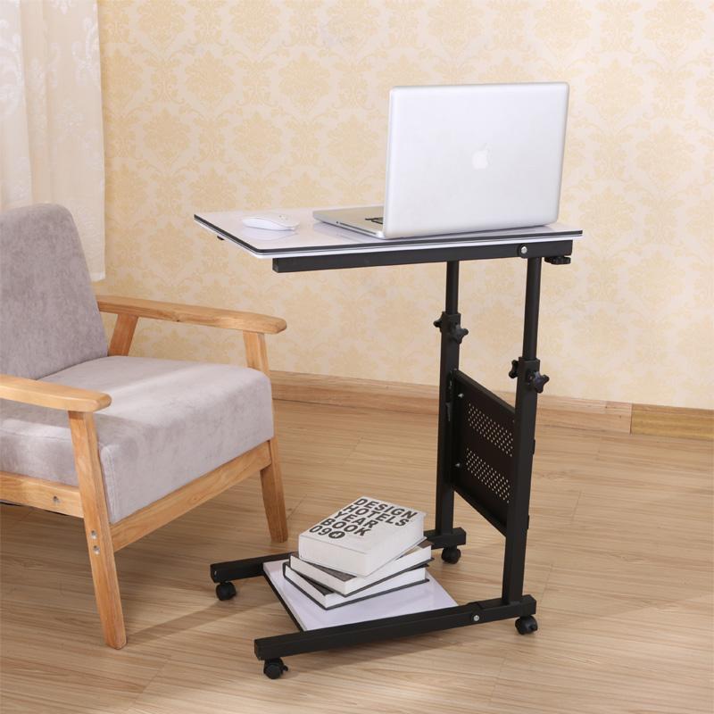 省空间床上笔记本电脑桌懒人折叠升降饭桌老人用移动床边桌写字台
