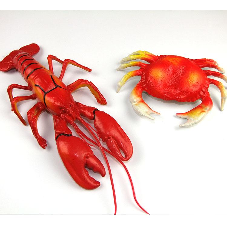 仿真螃蟹模型大螃蟹海蟹花蟹大闸蟹假螃蟹模型动物海洋塑胶龙虾道