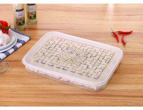 饺子盒单层有盖包子盒带盖点心烧麦盒蛋糕冰箱保鲜盒冷冻盒饺子盒