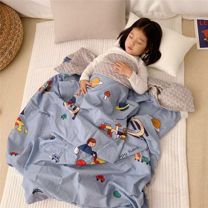 韩国ins新生儿宝宝婴儿全棉安抚毯子豆豆毯儿童春夏推车盖毯四季
