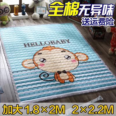 全棉环保婴儿爬行垫儿童加大爬爬垫游戏垫宝宝地垫加厚防滑可机洗