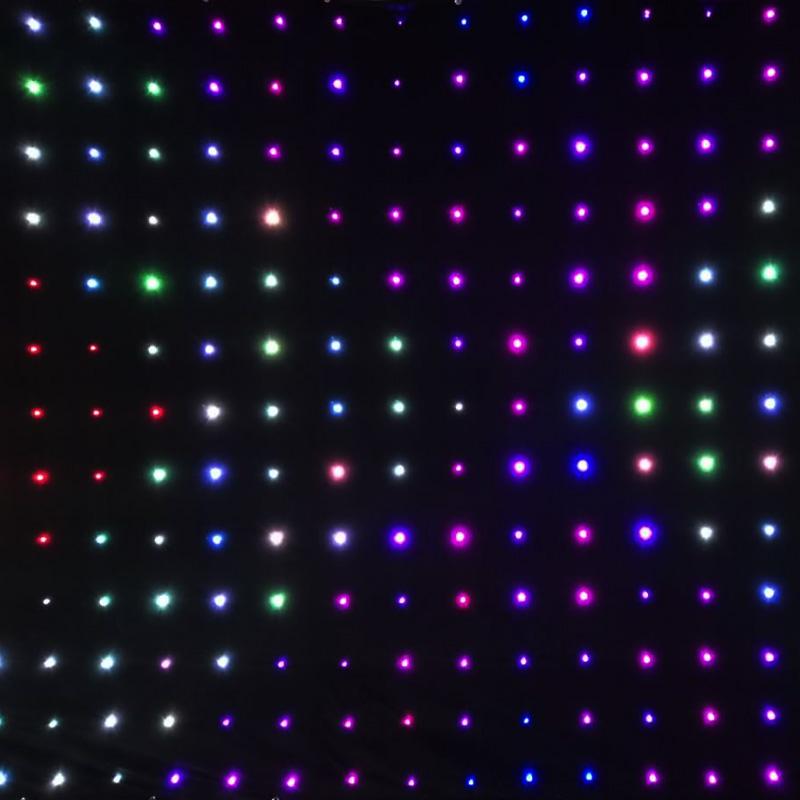 包邮LED全彩视频布星空背景幕布酒吧KTV婚庆直播染色灯光舞台热卖