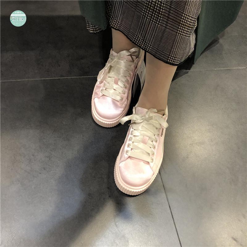 Puma彪马 新款 蕾哈娜厚底松糕鞋增高鞋 女鞋丝绸厚底板鞋休闲鞋