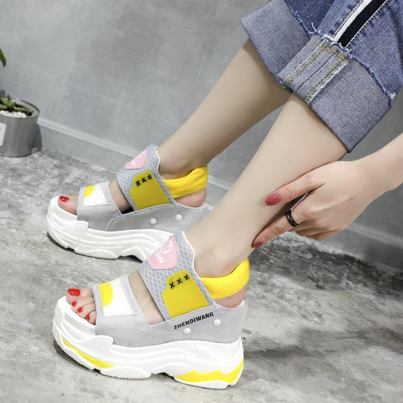 韩版凉鞋女潮防水台