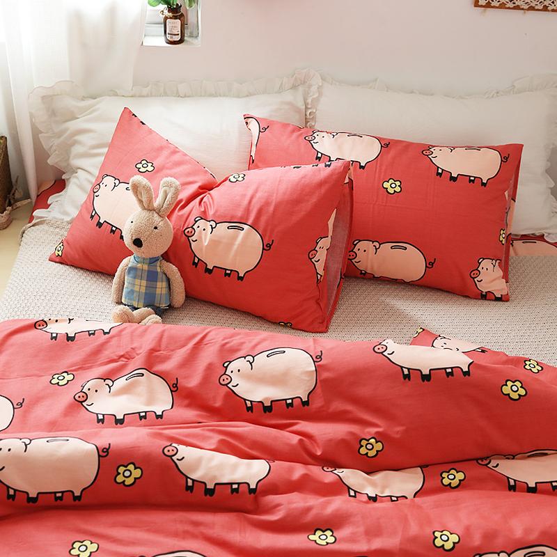 小米馍馍 | 花花猪 | 纯棉卡通床单床笠全棉被套枕套单件床品