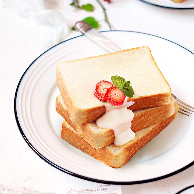 【三只松鼠_氧气吐司面包800g/整箱】夹心早餐小零食多口味食品