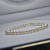 Natural small particle seawater pearl bracelet round glare