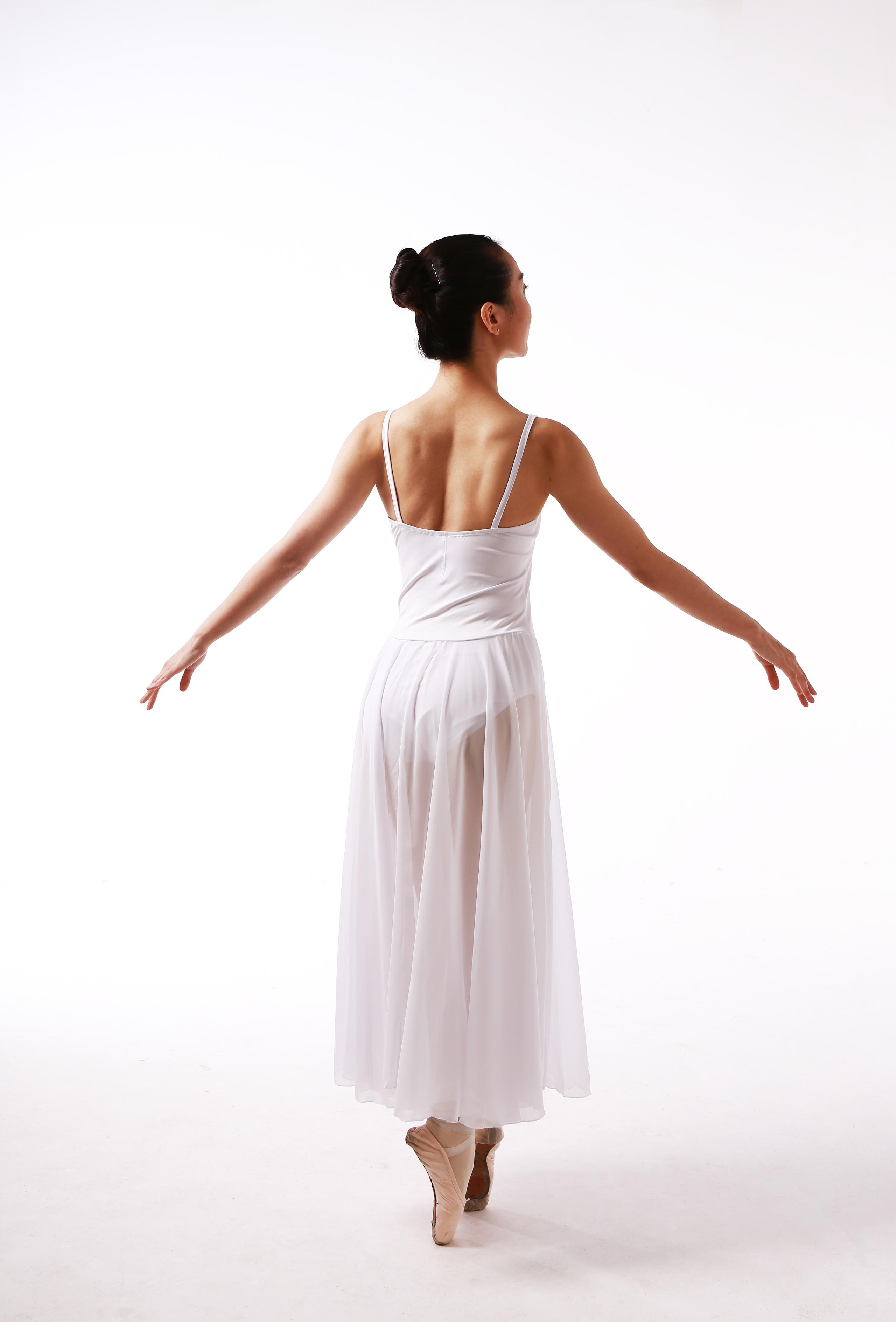 吊带雪纺长裙专业成人女芭蕾舞蹈服练功服连体服连衣裙表演服艺考