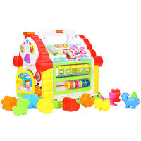 Hui Le Toys Fun Cabin Baby Early Learning Puzzle Shape Blocks Pairing Baby 1-2 Years Old Wisdom House
