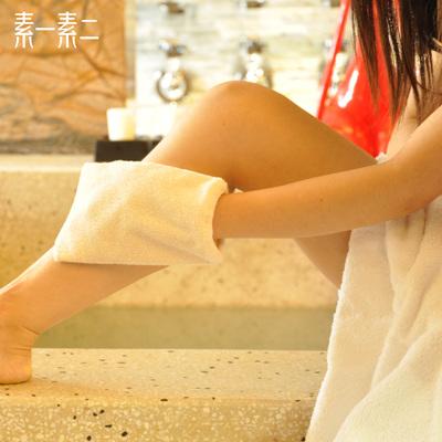 素一素二韩式免搓澡巾双面搓泥搓背手套去污洗澡巾去角质浴擦