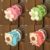 Cotton door pull gloves round door handle gloves anti-static home cloth round lock gloves protective cover