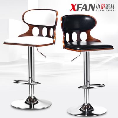 欧式吧台椅升降椅现代简约靠背吧凳高脚实木吧椅旋转酒吧椅子家用牌子口碑评测