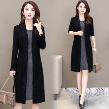 时尚 宽松假两件套裙子 韩版 秋季有女人味 早秋2019新款 连衣裙长袖图片