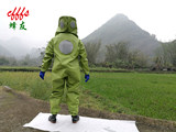 Green all-connected breathable hornet suit anti-bee suit protective suit double fans with battery anti-spray toxic bee you brand free mail