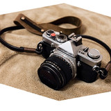 BHW France peak creation retro camera strap handmade leather micro single shoulder strap leather crazy horse leather decompression rope