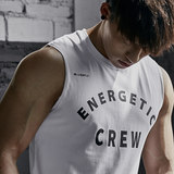 BLUESFLY New Printed Fitness vest Men's Training T-shirt is breathable, relaxed, simple and sleeveless in spring and summer