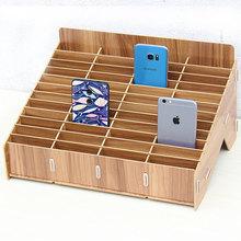 教室课堂桌面多格手机收纳盒办公会议保管置物架钢化膜壳存放管理