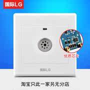 86 concealed corridor induction delay incandescent energy-saving lamps second-line sound and light control switch led voice-activated switch panel
