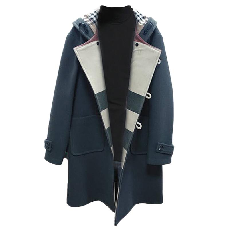 我的前半生贺涵同款羊毛呢子大衣牛角扣外套男士中长款大码风衣男