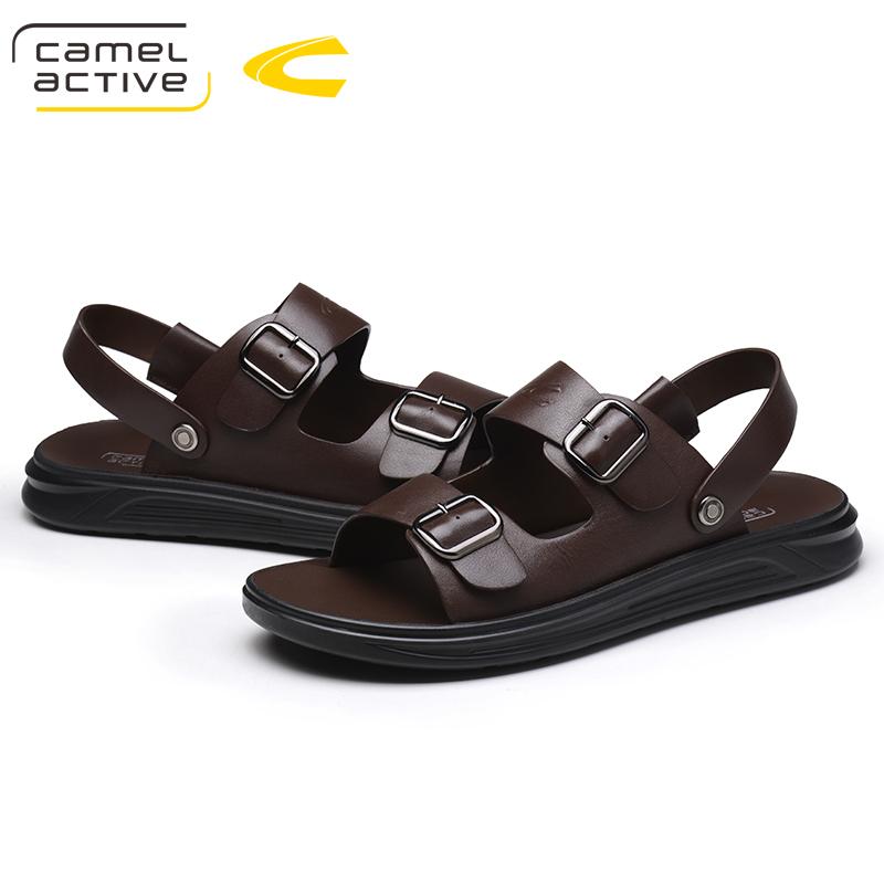 德国骆驼动感凉鞋男两用夏季新款真皮男士凉鞋沙滩鞋防滑凉拖鞋潮