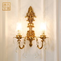 欧式奢华水晶壁灯客厅卧室床头背景墙过道装饰壁灯酒店工程壁灯具