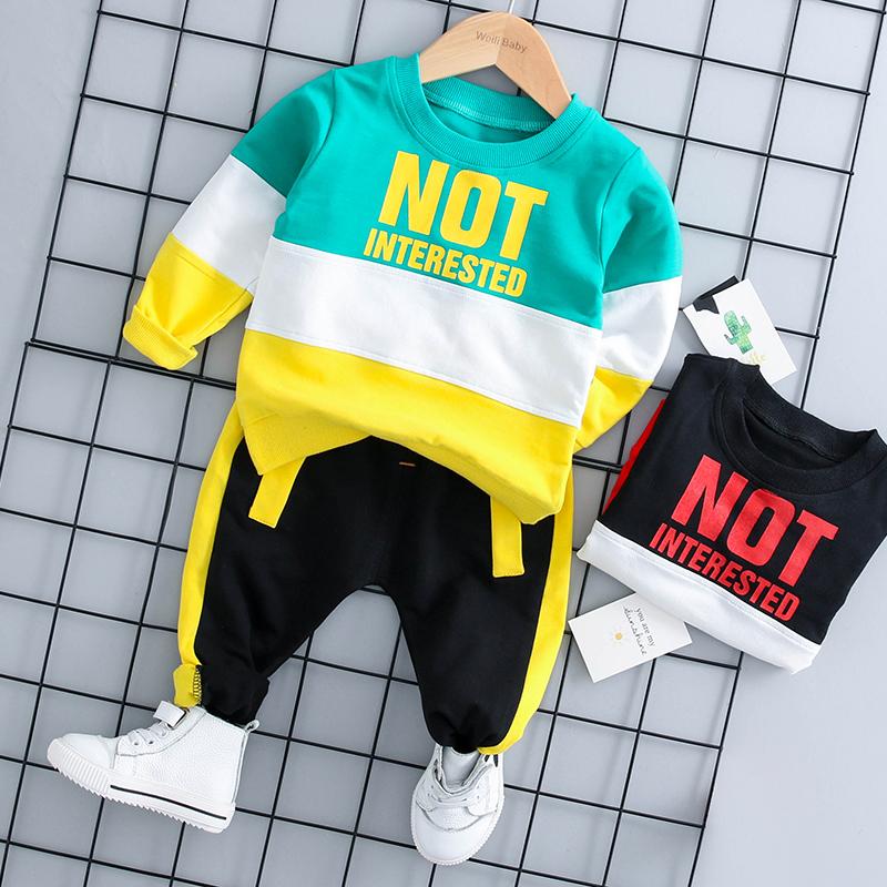 男童春秋季2018新款婴幼儿童装宝宝衣服帅气两件套装0-1-2-3岁潮