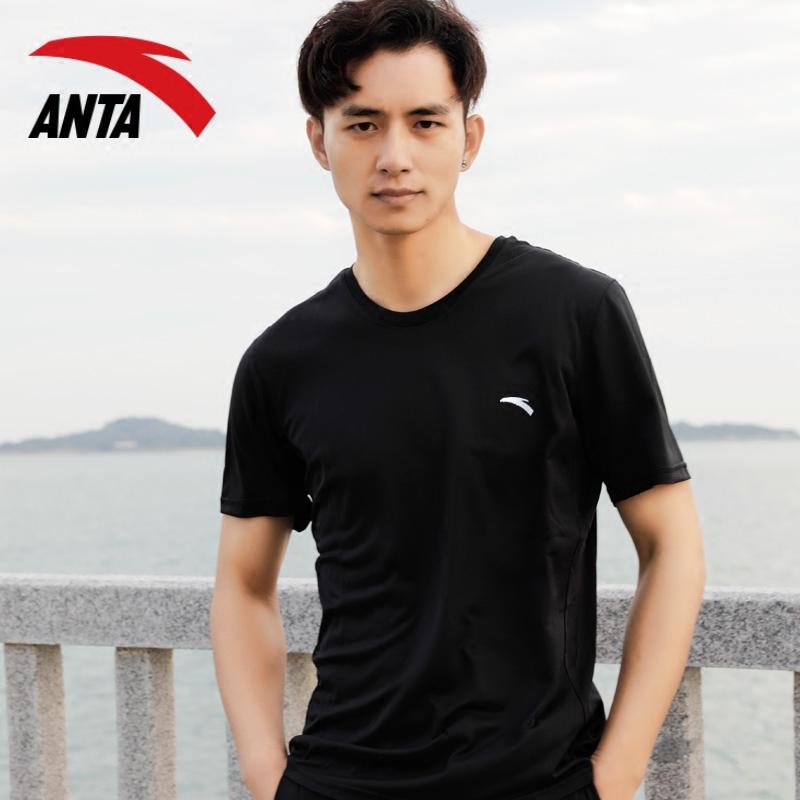安踏短袖T恤男装2019夏季新款吸汗速干透气跑步健身上衣运动服男