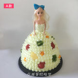 Excellent cake model New Barbie doll model celebration cake European fake cake plastic sample