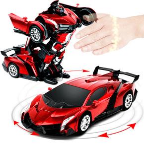 摇控汽车变形金刚机器人儿童遥控车超大充电男孩玩具赛车生日礼物
