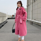 Pellet cashmere anti-season fur coat sheep sheared fur body medium length coat female new 2019 lamb