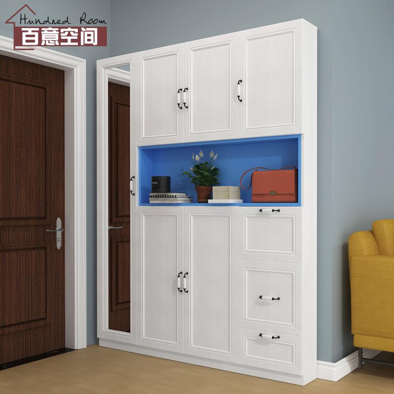 17cm超薄鞋柜鞋凳简约现代小户型进门衣帽柜门口玄关窄门厅柜