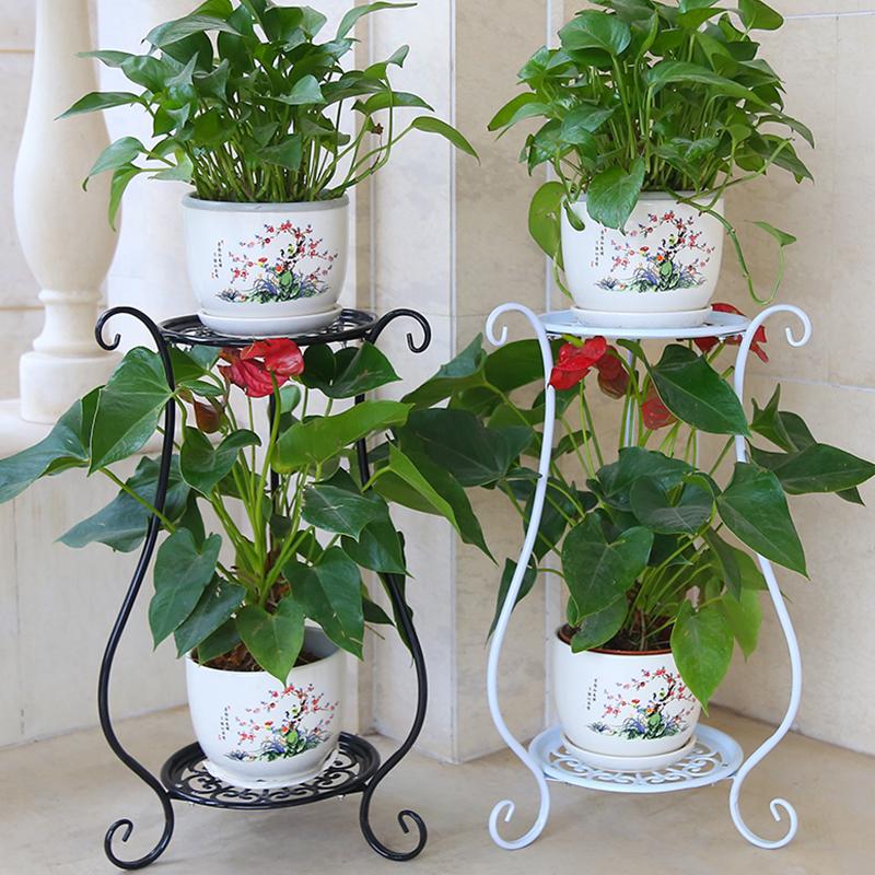 欧式铁艺多层花架阳台绿萝多肉花盆架子落地式室内客厅花架子特价