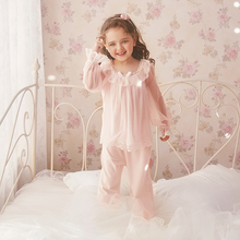 RoseTree Children's Princess's Nightwear Spring and Autumn Long Sleeve Girl's Air Conditioning Suit Modal Baby's Thin Home Suit