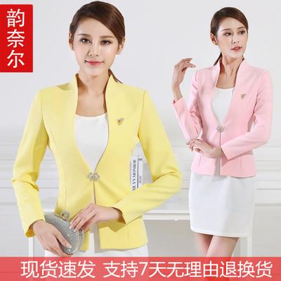 播音主持上镜服装女新款艺考小西装修身气质职业套装短款西服外套