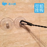 Firm suction cup travel clothesline with hook travel travel hotel hotel elastic stretchable clothesline