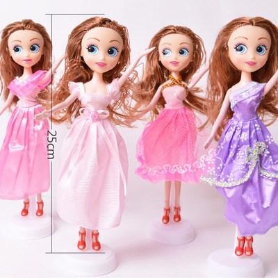 单个芭比娃娃套装女孩萝莉公主儿童玩具地摊新款10元以下婚纱
