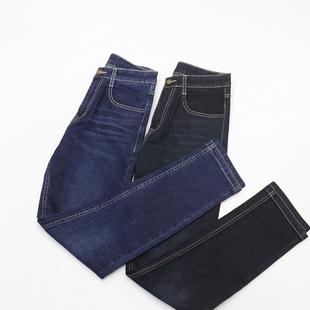 19春季新款 男士简约纯色修身直筒牛仔长裤 面料舒适 带弹力