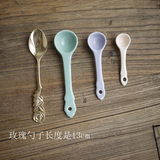 W1962 Export European Macarons Cute Ceramic Mini Tea Spoon / Small Spoon / Ceramic Round Spoon